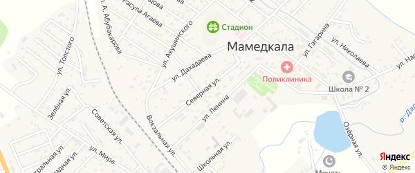 Северная улица на карте поселка Мамедкалы с номерами домов
