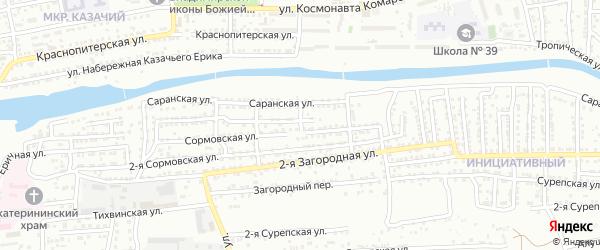 Курганская улица на карте Астрахани с номерами домов