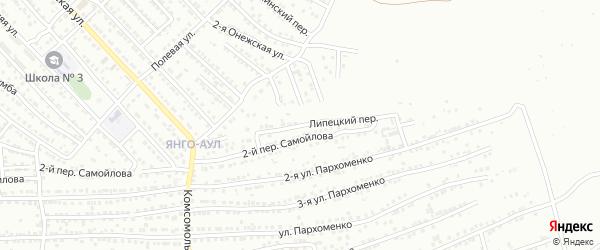 Липецкий переулок на карте Астрахани с номерами домов