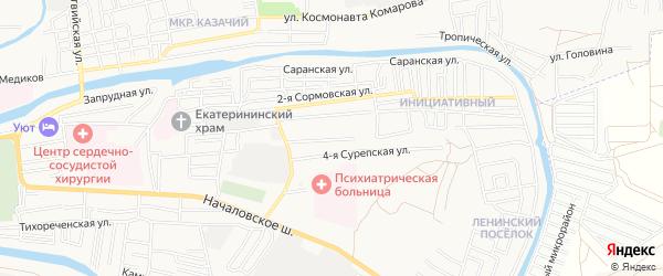 СТ Кировец-4 на карте Астрахани с номерами домов