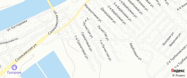 Лучистая 2-я улица на карте Астрахани с номерами домов