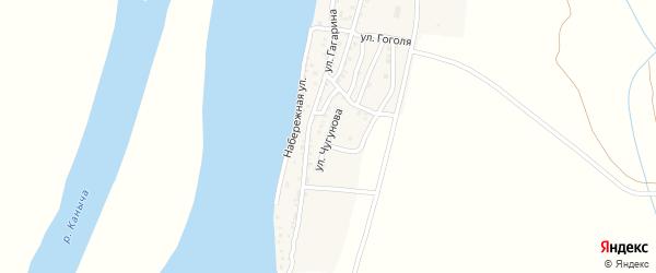 Улица Чугунова на карте Кировского поселка с номерами домов