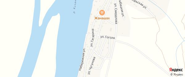 Улица Гагарина на карте Кировского поселка с номерами домов