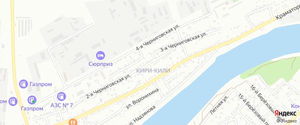 Черниговская 2-я улица на карте Астрахани с номерами домов