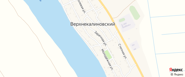 Молодежная улица на карте Верхнекалиновского поселка с номерами домов