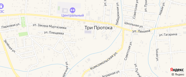Майская улица на карте села Три Протоки с номерами домов