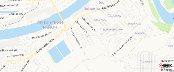 ГСК Луч на карте Астрахани с номерами домов