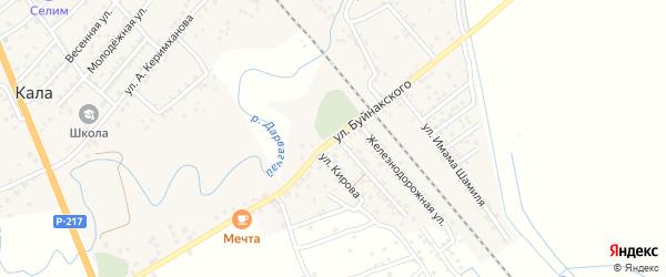 Улица Буйнакского на карте поселка Мамедкалы с номерами домов