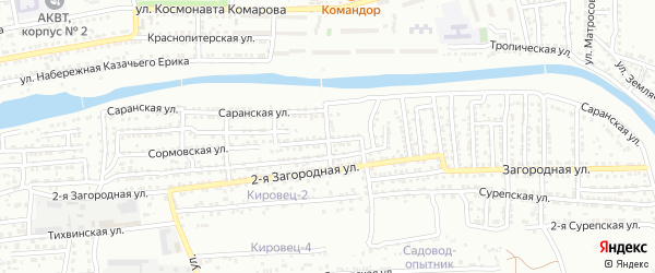 Миргородская улица на карте Астрахани с номерами домов