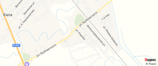 Улица Кирова на карте поселка Мамедкалы с номерами домов