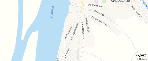 Улица Лермонтова на карте Кировского поселка с номерами домов