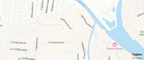 Тепличная улица на карте села Три Протоки с номерами домов