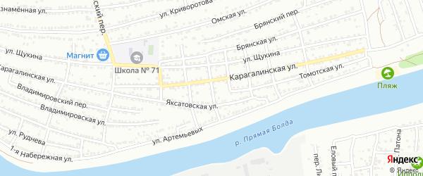 Переулок Гончарова на карте Астрахани с номерами домов