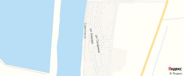 Улица Кирова на карте села Жана-Аула с номерами домов