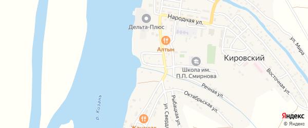 Речная улица на карте Кировского поселка с номерами домов