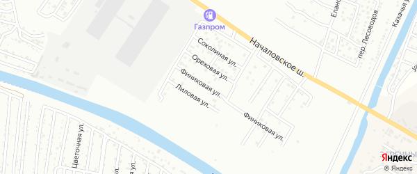 Финиковая улица на карте Астрахани с номерами домов