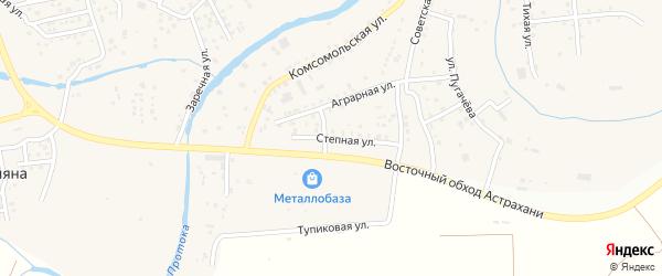 Степная улица на карте села Три Протоки с номерами домов