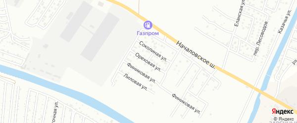 Ореховая улица на карте Астрахани с номерами домов