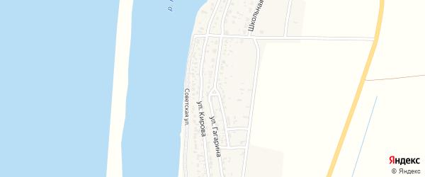 Улица Гагарина на карте села Жана-Аула с номерами домов