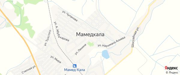 Карта поселка Мамедкалы в Дагестане с улицами и номерами домов