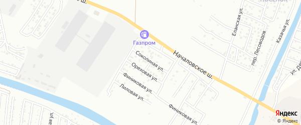 Соколиная улица на карте Астрахани с номерами домов