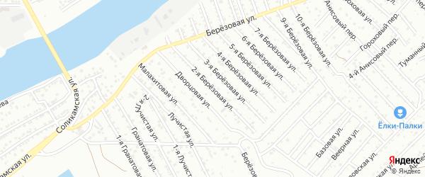 Березовая 2-я улица на карте Астрахани с номерами домов
