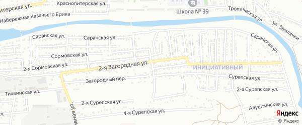 Ломовская улица на карте Астрахани с номерами домов