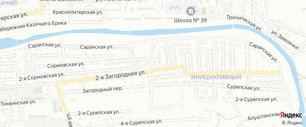 Ломовская 2-я улица на карте Астрахани с номерами домов