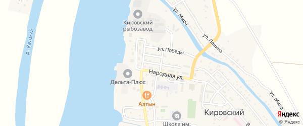 Пионерская улица на карте Кировского поселка с номерами домов