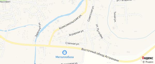 Аграрная улица на карте села Три Протоки с номерами домов