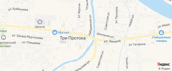 Улица Ленина на карте села Три Протоки с номерами домов