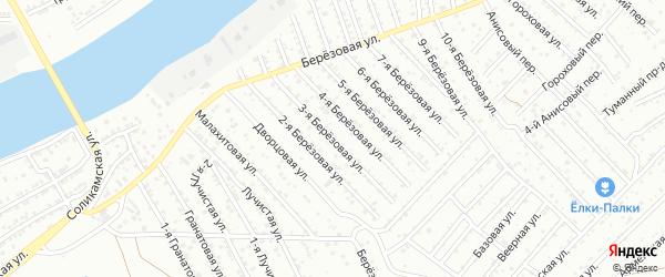 Березовая 3-я улица на карте Астрахани с номерами домов