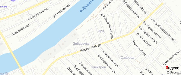 Березовый 5-й переулок на карте Астрахани с номерами домов