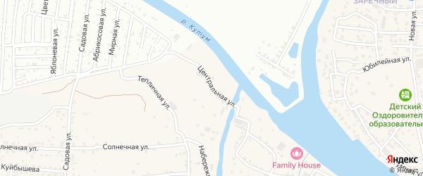 Центральная улица на карте села Три Протоки с номерами домов