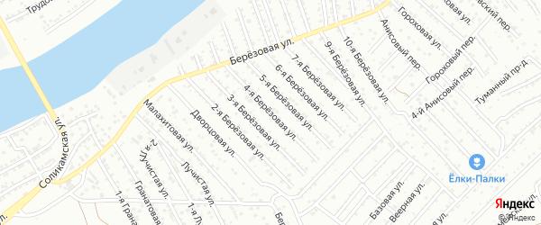 Березовая 4-я улица на карте Астрахани с номерами домов