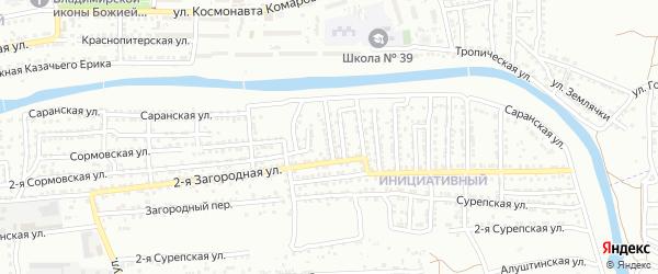 Николаевская улица на карте Астрахани с номерами домов