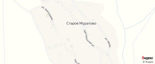 Новая улица на карте деревни Старого Муратово с номерами домов