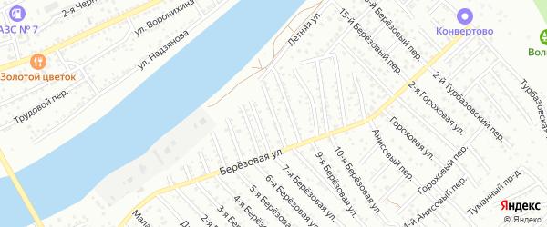Березовый 7-й переулок на карте Астрахани с номерами домов
