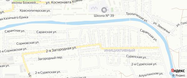 Николаевская 2-я улица на карте Астрахани с номерами домов
