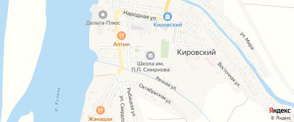 Улица Калинина на карте Кировского поселка с номерами домов