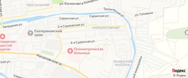 СТ Садовод-Опытник на карте Астрахани с номерами домов
