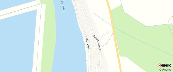 Улица Чапаева на карте села Жана-Аула с номерами домов
