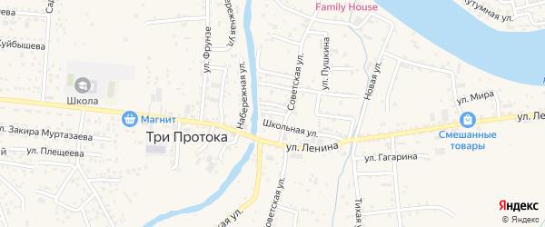 Пионерская улица на карте села Три Протоки с номерами домов