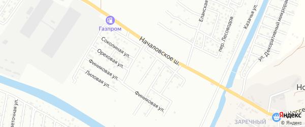 Началовский 1-й переулок на карте Астрахани с номерами домов