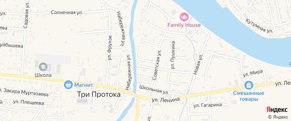 Улица Кирова на карте села Три Протоки с номерами домов
