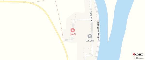 Абая улица на карте села Лебяжьего с номерами домов