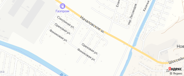 Началовский 2-й переулок на карте Астрахани с номерами домов