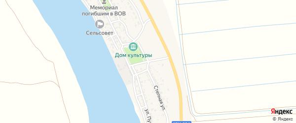 Степная улица на карте Верхнекалиновского поселка с номерами домов