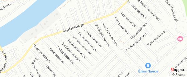 Березовая 7-я улица на карте Астрахани с номерами домов