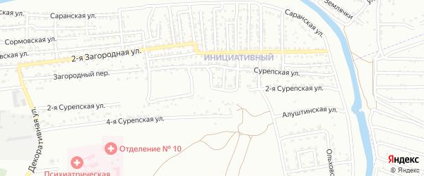 Сурепская 2-я улица на карте Астрахани с номерами домов